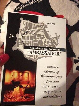 Ambassador wine & coffe: good music.. barry white