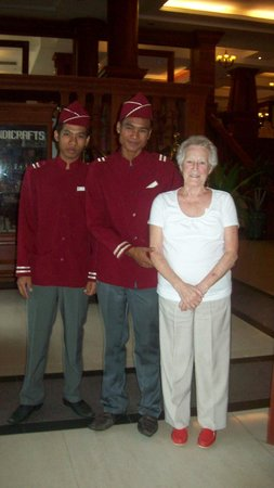 Prince D'Angkor Hotel & Spa: A happy smile from the doormen is a nice way to satrt the day