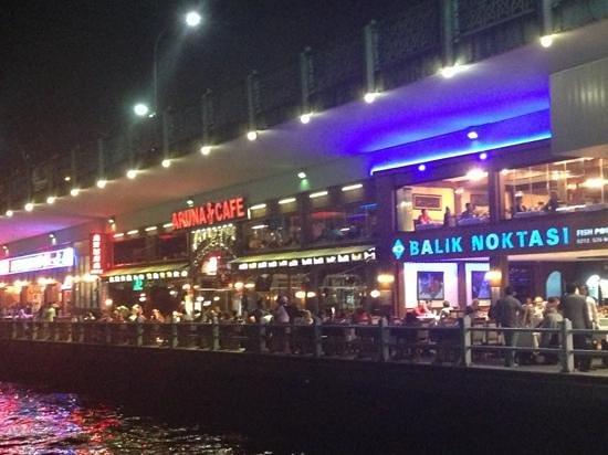 Balik Noktasi : fantastic night on the Bosphorus here!