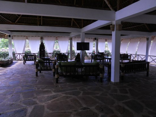 hotel Eco Lodge Jua Bahari : il salone  del ristorante
