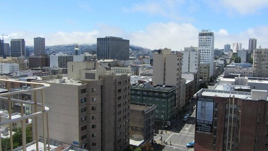Serrano Hotel: View from our room on the 15th Floor