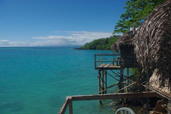 ลูเซียส์ ลากูน ชาเล็ทส์: Vue du balcon sur le lagon