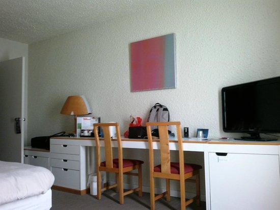 Novotel Valenciennes : Notre chambre