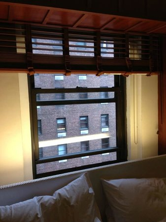 Hudson Hotel New York: view from the window (this was classed as room with a view lol)