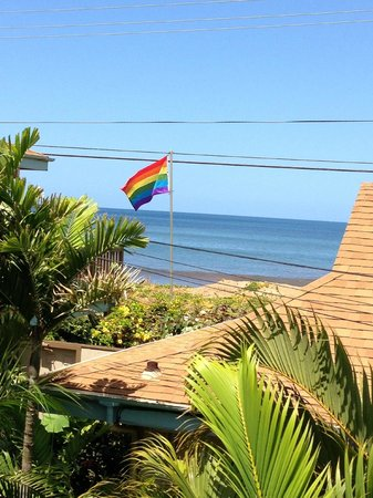 Maui Sunseeker LGBT Resort: View from building 300