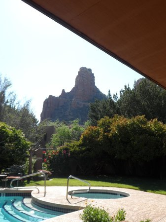 Adobe Village Inn: Morning coffee view