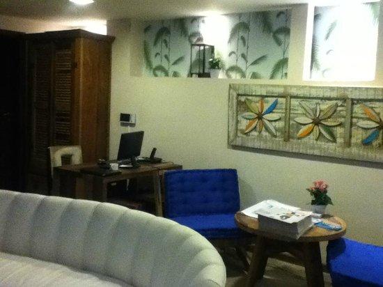Quinta Azul Boutique Pousada: Recepción y sala de estar