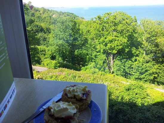 Cliff Railway Cafe: Cream Tea with a view