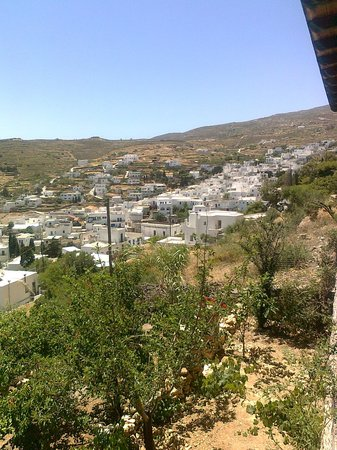 Flora Taverna: A view of the village below.