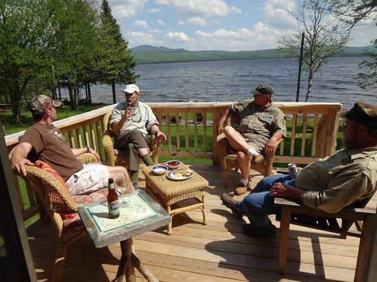 Hanging out with Guides discussing Fishing Trips