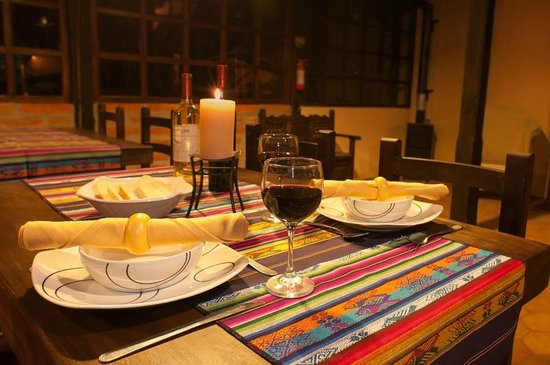 Isinlivi, Equador: Romantic dining