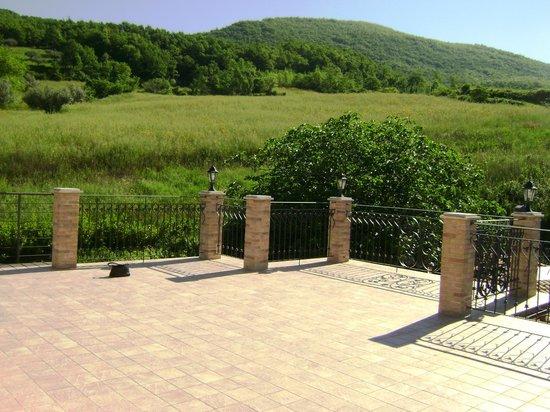 Tenuta Villa Rosato: View from terrace to the rear
