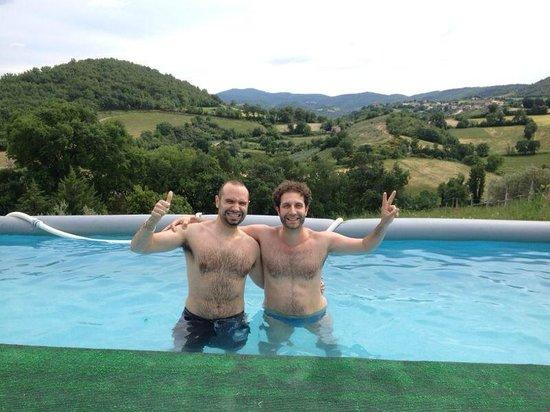 Casa Vacanze Milleglicini: La piscina con la vista sulle colline!