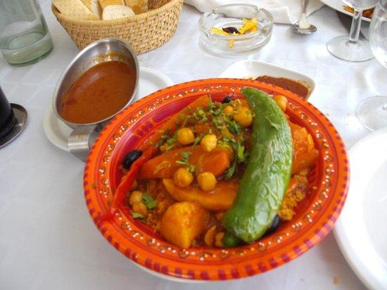 Restaurant de L'ile : couscous a l'agneau