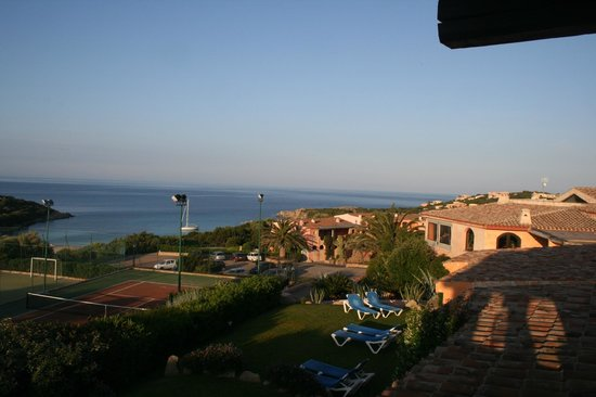 Grand Hotel in Porto Cervo: View from our balcony.