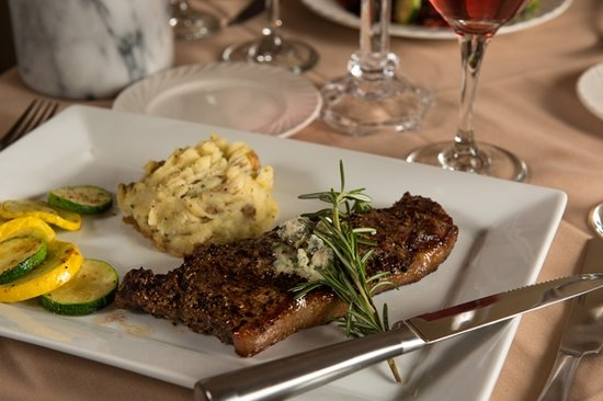 Seasons on Main: NY Strip topped with Garlic Butter