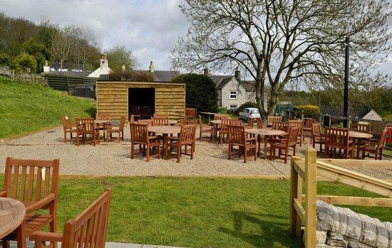 The Rising Sun Inn Restaurant: boules court and tables