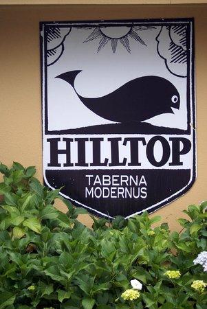 sign for Hilltop Tavern