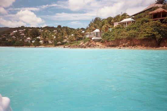 Cocobay Resort: View of resort from waverunner