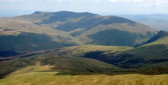 Rolling countryside East of Skiddaw