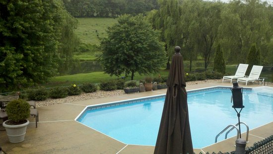 Steeles Tavern Manor Bed and Breakfast : Beautiful Pool with a beautiful view!