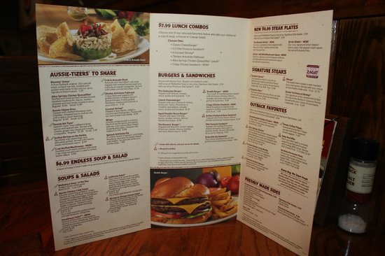 Outback Steakhouse : Menu