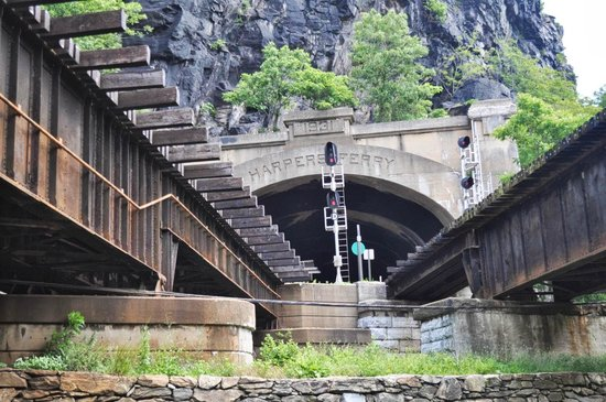 Harpers Ferry Tunnel Entrance For Railroad Tracks Picture Of - Trip advisor harpers ferry
