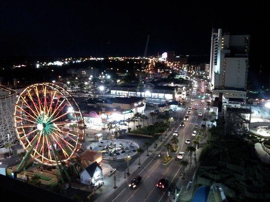 Westgate Myrtle Beach Oceanfront Resort Carnival Across Street Bright Ferris Wheel Wayy Down The