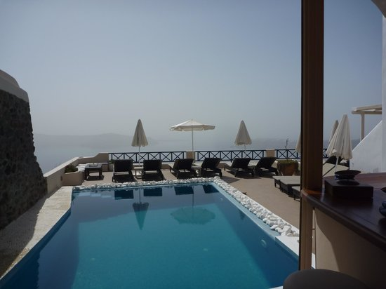 Afroessa Hotel: looking out from the pool bar