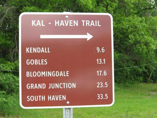 Kal Haven Trail: Trail Mileages