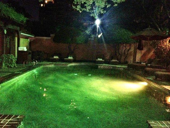 Rosewood Mansion on Turtle Creek: 11PM swim, all to ourselves plus staff service!