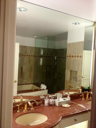 Rosewood Mansion on Turtle Creek: full bath with great shower & tub