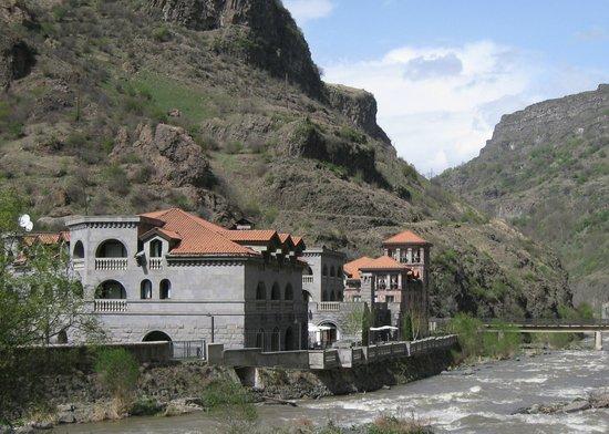 Tufenkian Avan Dzoraget Hotel : View from across the Debed River
