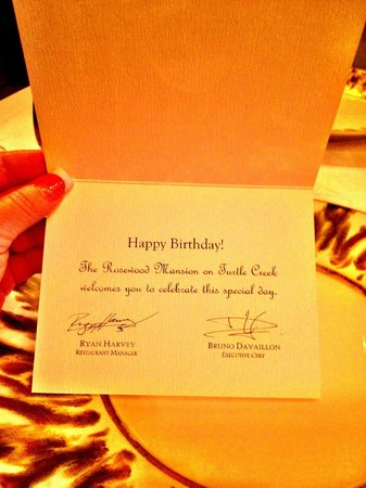 Birthday Card Picture Of The Mansion Restaurant At Rosewood