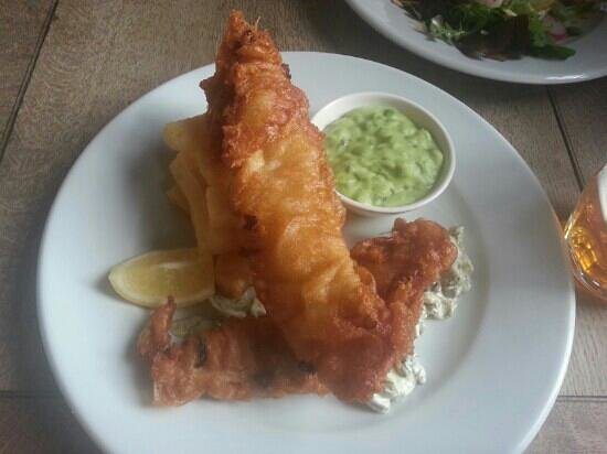 The Parlour: beer battered haddock and chips