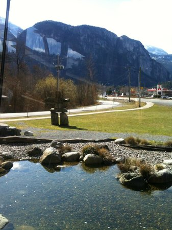 Squamish Adventure Centre: View from the lounge area.