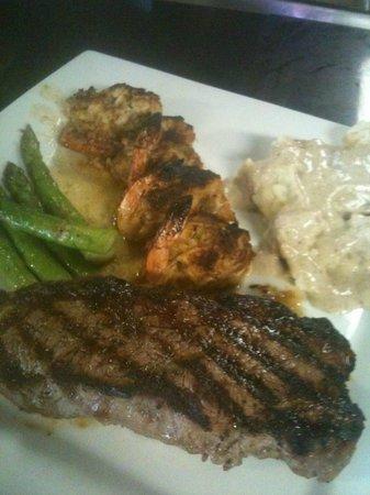 Calypos's Chef Todd's Kitchen: NY Strip & Crab Stuffed Shrimp