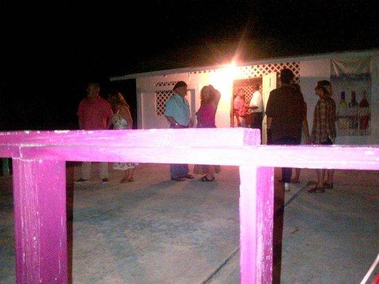 The Hot Spot Restaurant and Karaoke Bar: the back patio
