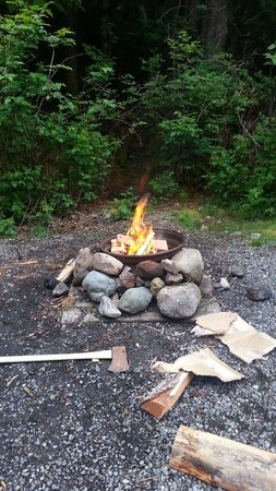 Surf Junction Campground: Fire pit
