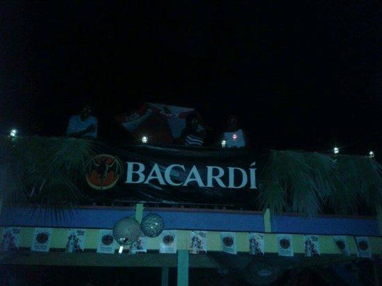 The Hot Spot Restaurant and Karaoke Bar: the high  deck in the back yard during rake n scrape