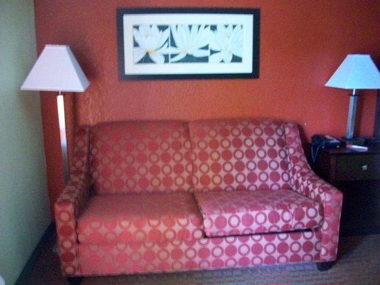 Quality Inn: Sofa