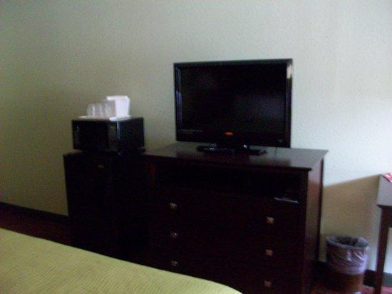 Quality Inn: Fridge, micro, chest, TV