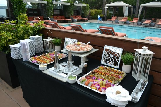 San Diego Marriott Del Mar : Arterra hors d'oeuvres display