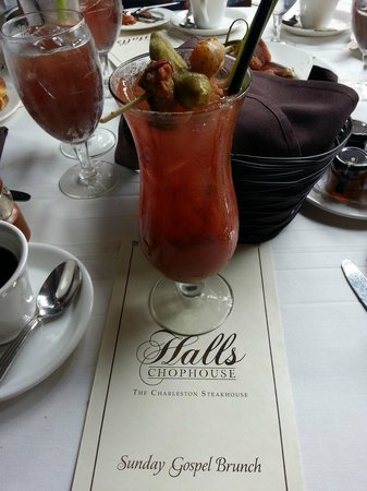 Halls Chophouse: Sunday Gospel Brunch bloody mary