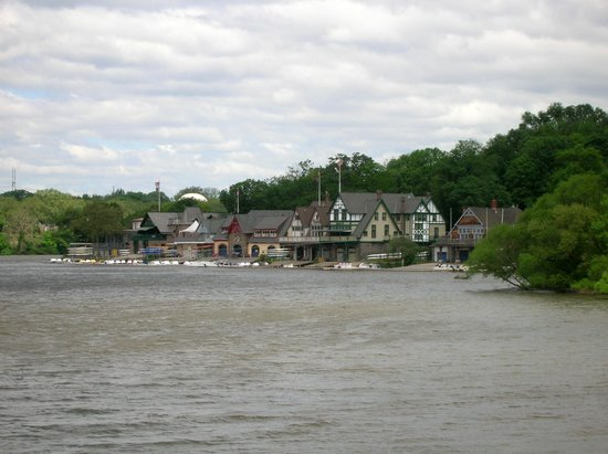 Boathouse Row: Schuylkill River view