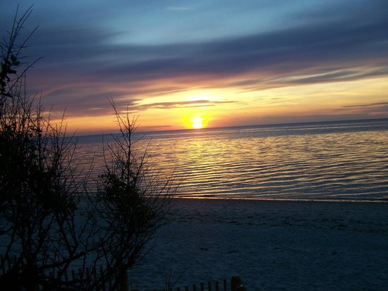 Linger Longer By The Sea: sunset on Cape Cod Bay