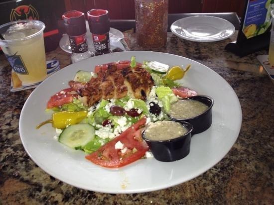 Micky Fins: Caesar salad with blackened chicken