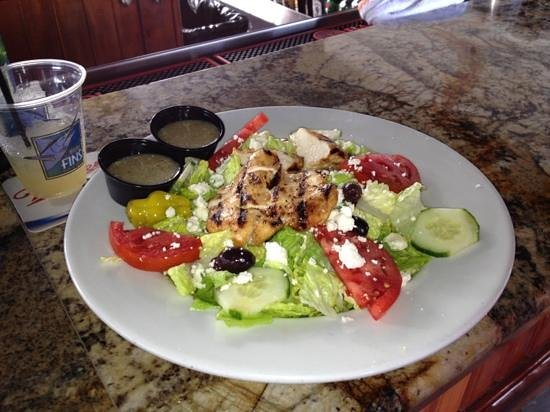 Micky Fins: Caesar salad with chicken