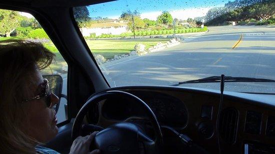 All Star Showbiz Tours : Shellee-Ann driving.