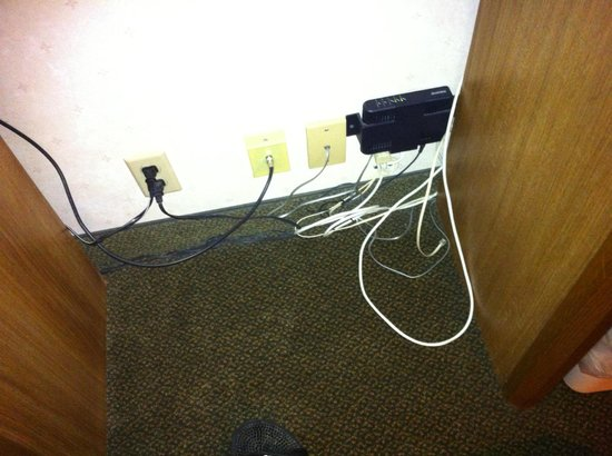 Comfort Inn - Hall of Fame: Room wiring